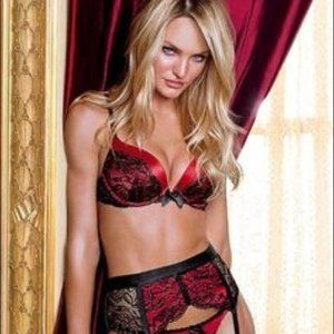 VS Bombshell Bra Red Lace 34A  Adds 2 cups